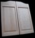 2 paneled oak Swinging Door - Contoured