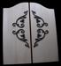 Custom Swinging Doors - Iron Accents