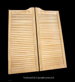 pine Swinging Doors Scroll