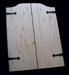 Knotty Pine Swinging Doors - Iron