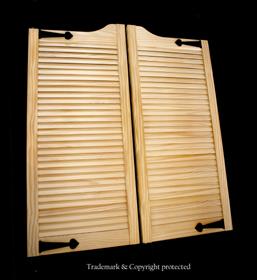 pine Swinging Doors Iron